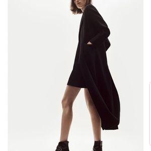 Zara knitt black long cardigan with pockets